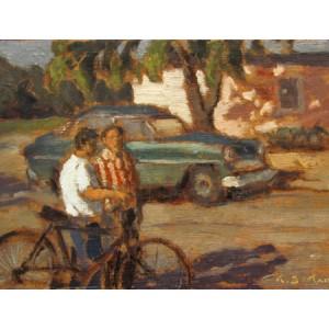 ANTOINE BITTAR   (1957-         )   A friendly chat, Cuba