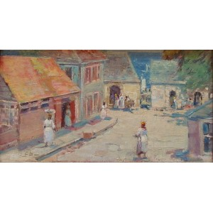 FRANKLIN P. BROWNELL, RCA1857-1946 - Street Scene, West Indies