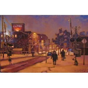 RAPHAËL MONTPETIT1980 - Railroad Crossing, St-Henri  SOLD