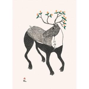 21 - NINGIUKULU TEEVEE 1963 - Caribou in Bloom
