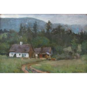 JOHN Y. JOHNSTONE, RCA 1887-1930 - Farm House, ca 1920