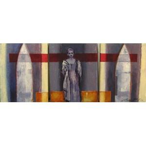 ANDRÉ PITRE 1965 - Femme en blanc aux deux ogives